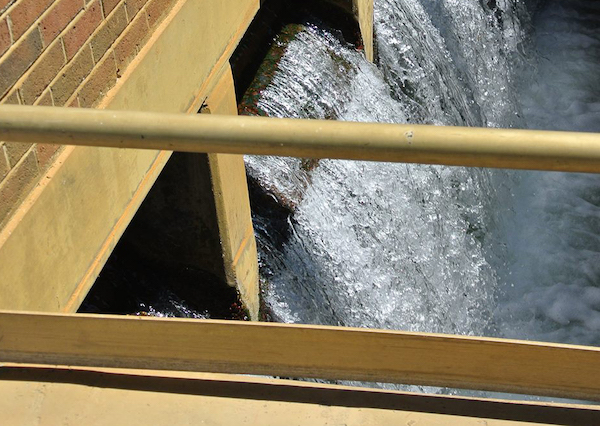 Highly treated water exiting HRSD's James River Treatment Plant in Newport News, Virginia