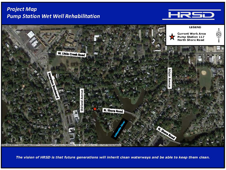North Shore Road Project Map